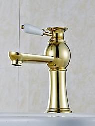 Luxury European Style Golden Shot Bathroom Sink Faucet