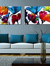 Stretched Canvas Art The Warm Flower Set of 2