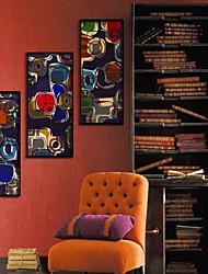 El arte de la cuadrícula abstracta Framed Canvas Juego de 3