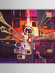 Абстрактная картина маслом, ручной росписи с растянутым кадром