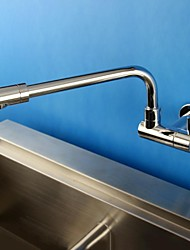 HPB Contemporary Chrome Finish Brass One Hole Single Handle Kitchen Faucet