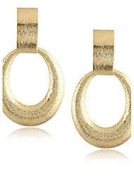 Irregular Shape Alloy Gold Women's Drop Earrings