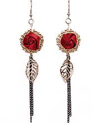 Aisha Frauen European Style Schmetterling Rose Lange Ohrringe SP003-005