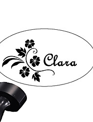 Personalized 30x40mm Wedding & Business Flower Pattern Oval Carved Resin Signet Name Stamp(within 8 Letters)