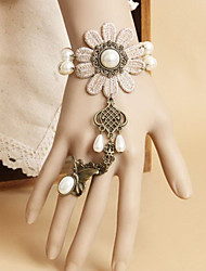 Handmade Charming Queen Cream-colored Sunflowers Sweet Lolita Bracelet with Ring