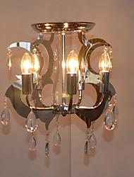 montagem embutida, 5 luz, moderno e minimalista galvanoplastia vidro ferro