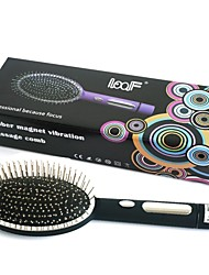 Loof Electric Vibrating Massage Hair Brush Comb for Blood Circulation Black(1 x AA)