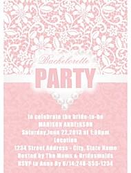 Invitaciones De Boda Bachelorette Party Cards Tarjeta plana Personalizado 12 Piezas / Juego