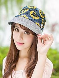 Mme Mme Summer Calotte New Sun Chapeau de paille est empêché Basque à Cap Chapeau de soleil jaune