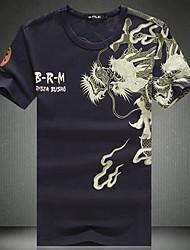 Herren Rundhalsband Bedruckte T-Shirts mit kurzen Ärmeln