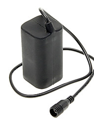 Rechargeable Water Resistant 18650 Battery Pack for Bicycle Light - Black (2-Parallel/2-Series)