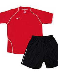 les maillots de football de l'enfant (rouge et noir)