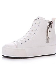 Canvas Women's Platform Heel Creepers Fashion Sneaker with Zippers Shoes (More Colors)