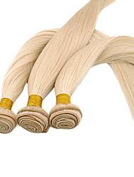 20inch 3Pcs Indian Remy droit Bleach Cheveux blonds cheveux de trame