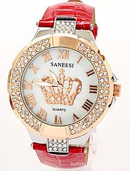 Werolex Diamonade numerais romanos Pu Diamonade Assista WB0513081