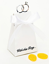 """""""With This Ring"""" White Favor Box (Set of 12)"""