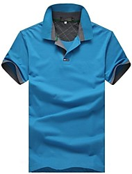 Men's Turndown Collar Pure Polo Shirt