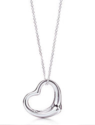 Silk Road Heart Design Cut Out Clavicular Necklace(White)