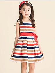 Arc-en-robe à rayures de fille