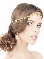 shixin® europese eenvoudige kwasten met flash card gouden legering hoofdbanden voor vrouwen (1 st)