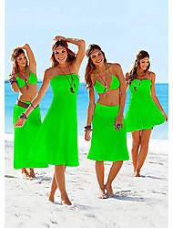 SWIMMART Women's Sexy Solid Color Strapless Outsize The Bikini Dress