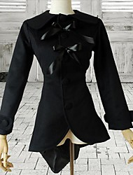 Long Sleeve Black Polyester Classic Lolita Blouse