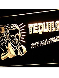 j004 TEQUILA Have You Hugged Your Toilet Neon Sign