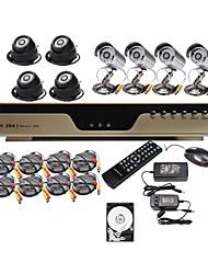 ультра низкая цена 8-канальный H.264 CCTV DVR Kit (8 КМОП ночного видения камеры) 500 Гб жесткий диск