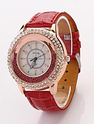 Cdong Fashion Diamond Ladies Watch (Red)