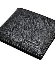 EVERGOLD® Men's Leather Wallet Black Short Style