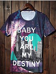 Джанни Мужская 3D печать слово шаблон футболки