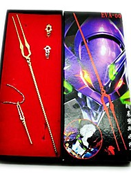 Neon Genesis Evangelion Speer van Longinus Wapen Model + Ring + Necklace Cosplay Set