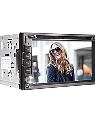 6,2 pollici 2 DIN auto in-dash lettore DVD con il GPS, BT, TV, Bluetooth, FM, iPod, Touch Screen