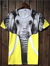 Джанни Мужская 3D печать Слон Pattern футболки