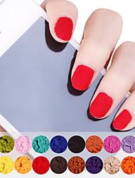 12PCS Velvet Powder Multi-Color 10g Nail Art Decorations(Random Color)