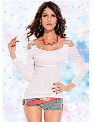 strass duplo-c das mulheres fivelas t-shirt magro