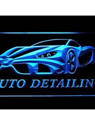auto détaillant détail signe lavage de voiture néon de lumière