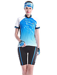 MYSENLAN Women's Cycling Suits Short Sleeve Bike Summer / Spring Breathable / Quick Dry / Wearable White / Pink / BlueS / M / L / XL /