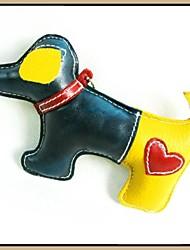 Colorful cuir de vache Squeak chiot style Chewing jouet pour animaux de compagnie Chiens
