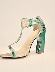 bc sandali tacco grosso spumanti scintillio delle donne