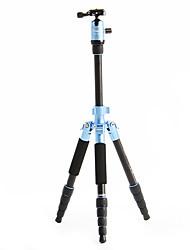 Fotopro X4i-E Recorrido al aire libre de aluminio-magnesio aleación telescópico Trípode para cámara réflex digital (azul)