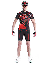 MYSENLAN Bike/Cycling Jersey / Tops Men's Short Sleeve Breathable / Quick Dry / Wearable / Windproof Cotton / 100% PolyesterWhite / Red /
