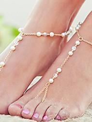 Hot Season Irregular Chain Beads Crystal Like Anklet