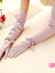Opera Length Fingertips Glove Cotton Bridal Gloves / Party/ Evening Gloves Spring / Summer / Fall / Winter Bow