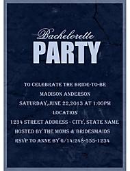 Hochzeits-Einladungen Glatte Karte Bachelorette Party-Karten Personalisiert 12 Stück / Set