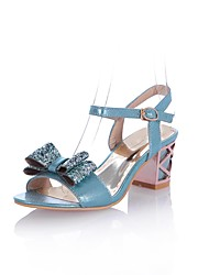 Women's Chunky Heel Open Toe Sandals with Bowknot Shoes(More Colors)