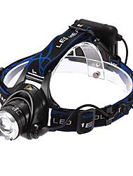 Lights Headlamps LED 1200 Lumens 3 Mode Cree XM-L T6 18650 Adjustable Focus / Waterproof / Rechargeable / Self-Defense Multifunction