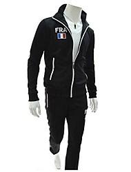 Slim Casual Mode de couleur de sucrerie Cardigan Costumes de sport pour hommes