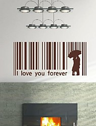Codice Romance Love Bar Wall Stickers