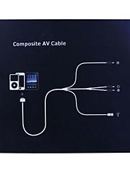 TV RCA Vidéo Composite AV Cable pour iPod iPad iPhone iPod-Blanc